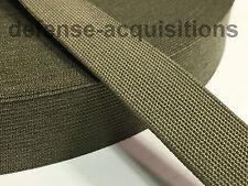 Military Elastic Webbing 1 INCH MIL-W-5664 RANGER GREEN MilSpec - Per Yard