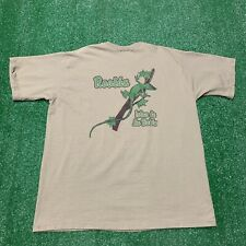 Vintage 90s Roatan Islas De La Bahia Lizard Tourist Pro Player Shirt Large Brown