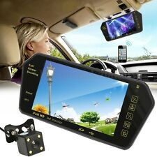 7''  LCD Mirror Monitor Car Rear View Kit Reverse Security Camera Wide Angle AU