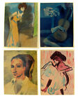 Vintage Picasso Miniature Wall Plaques Handcrafted in Spain Set of Four (4)