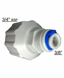 """3/4"""" bsp x 3/8"""" Connect 10mm water pipe to your water feed , Aquarium Fish KOI"""