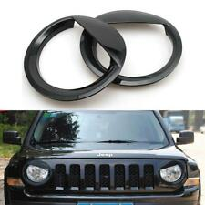 2pc Front Angry Eyes Style Light Headlight Trim Cover For Jeep Patriot 2011-2017