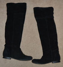Guess Women's Gwtrader Black Suede Knee High  Boots Size: 6M