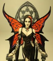 ANNE STOKES ARACNAFARIA Black Widow Spider Gothic Fairy Statue Hand Painted