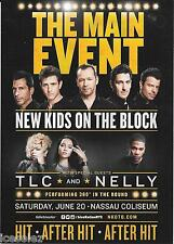 New Kids On The Block TLC Nelly  Concert Handbill Mini Poster