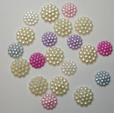 ASSORTED PASTEL FLOWER PEARL BEADS X 20  (10 Xx12mm & 10 x 16mm