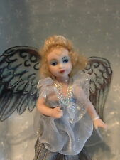 "Saskia Artist Finely Molded 5"" Wonderful Angel Fairy Full Porcelain Doll"