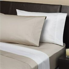 White - Genuine 1000tc 100% Egyptian cotton fitted sheet set King size bed NEW