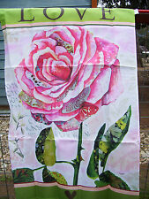 Love Rose Outdoor Flag Decor by Evergreen 29x43 Brand New in Package Doublesided