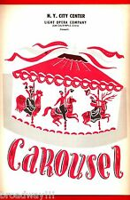"""Rodgers & Hammerstein """"CAROUSEL"""" Barbara Cook / Howard Keel 1957 Program"""