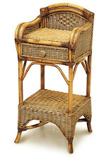 Bermuda Cane/Wicker/Rattan Telephone Table/Stand with Drawer