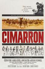 Cimarron Glenn Ford vintage western movie poster #3