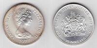 CAYMAN ISLANDS - RARE SILVER 25$ COIN 1977 YEAR KM#14 SILVER JUBILEE