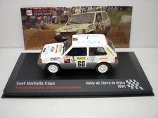 COCHE SEAT MARBELLA COPA 1:43 IXO SPORT RALLYE RALLY TIERRA DE GIJON 1991 car