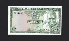 ZAMBIA 2 Kwacha 1974, P-20, Pack Fresh UNC, Kuwani Signature