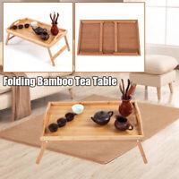 Practical Portable Folding Bamboo Tea Table TV Tray Snack Dinner Wood Desk US