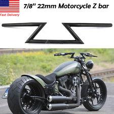 22mm Motorcycle Drag Z-Bar Handlebar For Suzuki Honda CG Harley Touring Black