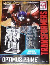 Optimus Prime Transformers Metal Earth 3D Laser Cut Metal Model Kit Fascinations