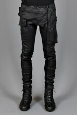DRKSHDW BY RICK OWENS MEMPHIS COATED JEANS BLACK SCRUB