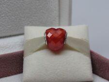 New Pandora w/Box Orange Shape of Love Heart Crystal Charm 796563OCZ Love