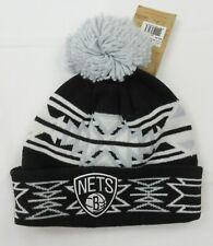 Brooklyn Nets NBA Basketball Knit Hat with Pom Geotech
