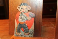 ca. 1930's Antique Valentine's Day Card Die Cut Mechanical Movable Hot Tamale