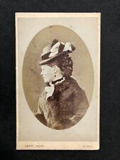 Victorian Carte De Visite CDV: Lady: Knott: Oldham: Fancy Hat Coat