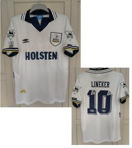 LINEKER 10# Tottenham shirt 19911 992 1993 home football shirt jersey LARGE