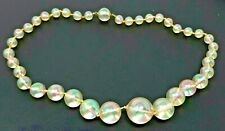 """Knotted Necklace 18"""" Vintage Ab Lucite Beaded"""