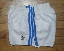 Short Adidas Vintage sprinter bianchi righe azzurre