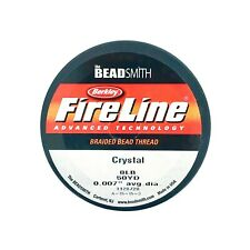 "FIRELINE Braided Beading Thread Cord Clear 0.007"" x 50 yards 8LB"