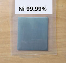Pure Nickel  Metal Thin Sheet Plate 1mm x 100mm x 100mm Electroplating Anode