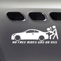 No Free Rides Gas or Ass Funny Car Truck Window Vinyl Sticker Decal Accessories