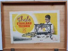 Metallbaukasten Thale Stahlbautechnik No 3  + 116/45 Zahnräder um 1953 DDR
