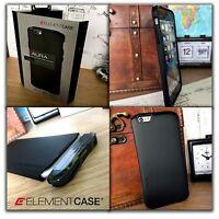 Element Case Aura Luxe Edition Impact  Displacement Metal Black iPhone 6 PLUS
