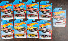 Hot Wheels 70 Chevelle SS wagon dare devils flames yellow blue Lot of 9