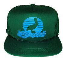 Kids Local Pelican Green Snapback Mesh Trucker Hat Cap 5-10 Beach