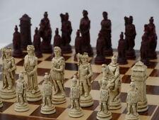 Roman– Red Chess Set-Include Wooden Board-Impressive.