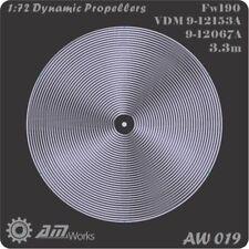 Alliance Model Works 1:72 Prop Blur Dynamic Propellers Fw-190 Detail Set #AW019