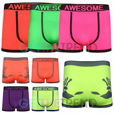 3 Pack Mens Seamless Boxers Shorts Underpants Briefs Rude Funny Underwear Adults