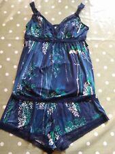 Next Ladies Navy Floral Shortie  Pyjamas  UK 8  BNWT!!
