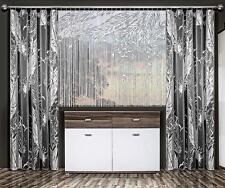 "Set of Modern White Jacquard Net Curtain ""fringe"" Type+ Curtains"
