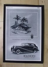 ROLLS-ROYCE ORIGINAL VINTAGE ADVERT FROM THE MOTOR MAGAZINE 1951