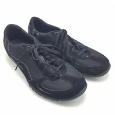 Sketchers 11 Womens Waking Tennis Shoe Black Lace Up Comfort Relaxed Fit Memory