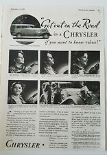 1933 Chrysler car get out on the road vintage ad