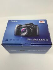 Canon PowerShot SX10 IS Digital Camera With Box Cords CD's Manuals