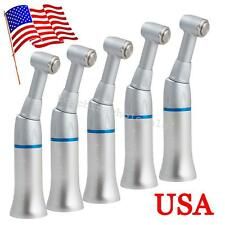 5pc US Dental Slow Low Speed Push Button Handpiece Contra Angle Latch NSK Style