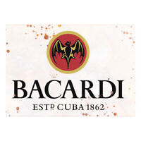 Vintage Sign Bacardi White Rum Classic Vintage Advertising Garden Shed Plaque