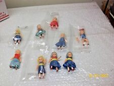 "Vintage1950s Dime Store Hong Kong Dressed 3 1/4"" Doll Doll celluloid Lot of 9"