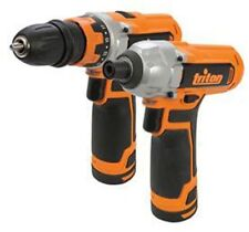 Triton Drill Driver Impact Driver 12V Li-Ion Cordless 2-Pack Built-in LED Lights